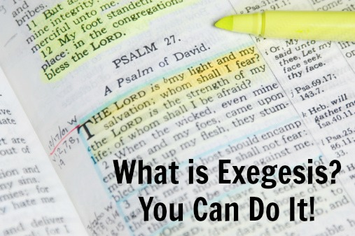 exegesis how to do it