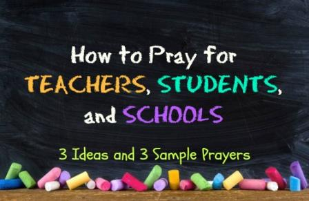How to pray for teachers, students, and schools image
