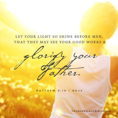 matthew 5 16 let your light shine