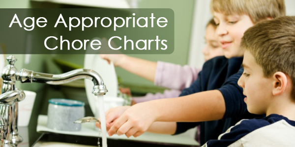 age appropriate chore charts