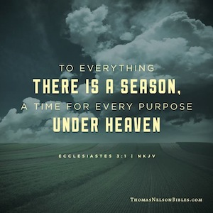 through all the seasons god is loving and powerful