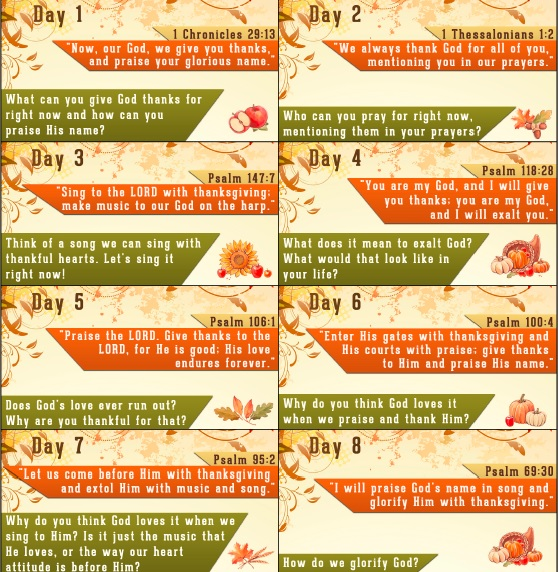 Thanksgiving Bible Verses - Free Thanksgiving Countdown ...