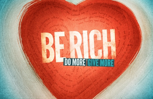 be rich do more give more