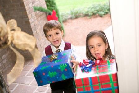 children joy giving