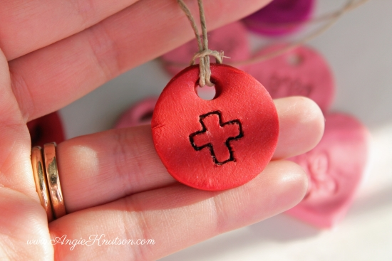 valentine clay necklace