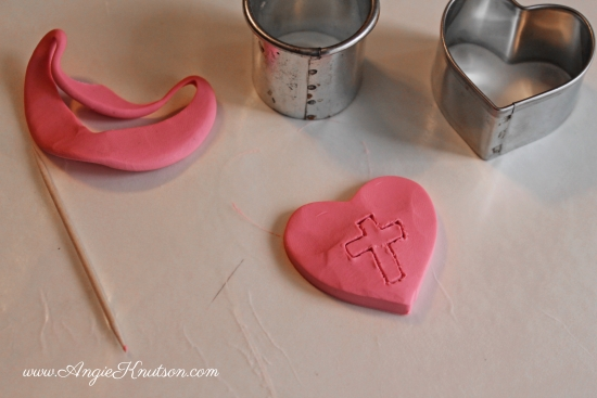 valentine clay necklace