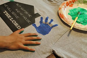 fathers day tshirt kids handprints