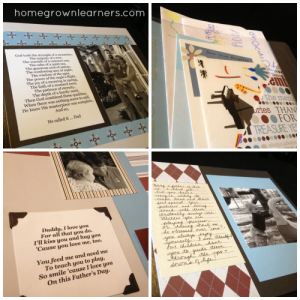 fathers day scrapbook craft